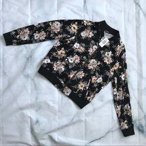 Torrid Floral Bomber Style Jacket Size 00